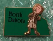 North Dakota character pin