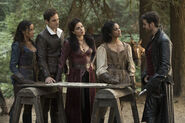 Once Upon a Time - 7x03 - The Garden of Forking Paths - Photography - Cinderella, Henry, Regina, Tiana and Hook