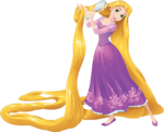 Rapunzel Brushing her Hair