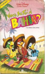 The Three Caballeros 1989 Brazil VHS