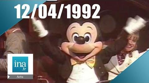 19 20 FR3 du 12 avril 1992 - Fin de La 5 et ouverture d'Eurodisney Archive INA