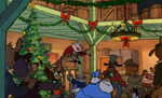 A Christmas party in Mickey's Christmas Carol