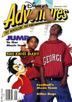 Disney Adventures Magazine cover Jan 1993 Kris Kross