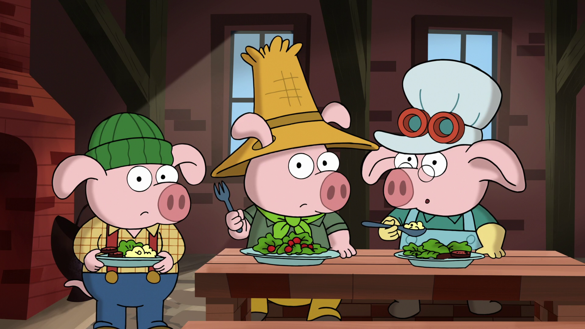 The Three Little Pigs As They Appear In 7D
