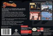Pinocchio SNES Boxart back