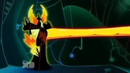 Lord dominator firing lava from arm