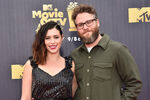 Seth Rogen and Lauren Miller at MTV Awards