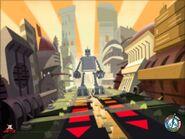 Super Robot in Shuggazoom City