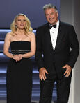Alec Baldwin & Kate McKinnon speak at Emmys