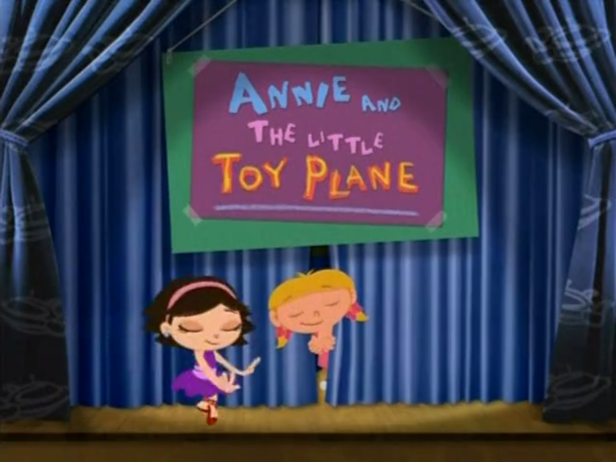 annie and the little toy plane