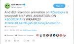 Rich Moore Animation von Zoomania abgeschlossen auf Twitter