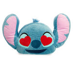 Stitch Emoji Pillow - Heart eyes side