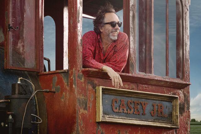 File:Casey Jr and Tim Burton.jpg