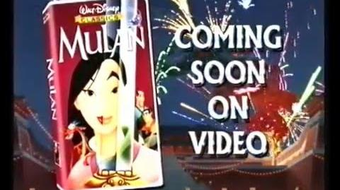 Disney's Mulan Trailer 1998 (VHS)