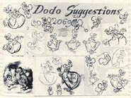 Dodo-Alice in Wonderland modelsheet