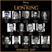 Elenco do filme rei leão