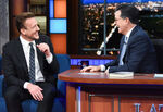 Jason Segel visits Stephen Colbert