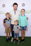 Jon Heder & kids at Families Building Communities benefit