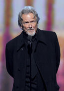 Kris Kristofferson speaks at Grammies