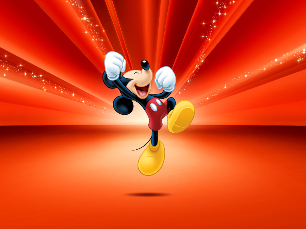 Mickey Mouse Wallpaper Red