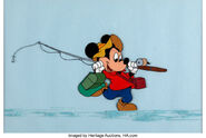 Mickey Simple Days cel from Plutos Day