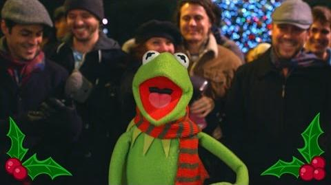 "The Muppets Kermit Sings ""It Feels Like Christmas"" at Disneyland"