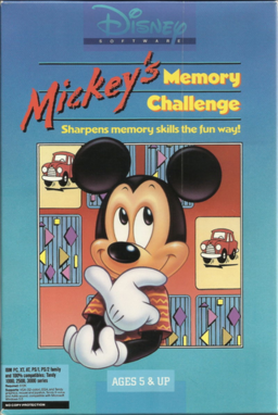 Mickey's memory challenge dos box artwork