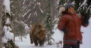 Ted Brooks chased by a grizzly bear