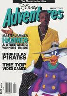 Disney Adventures Magazine cover Jan 1992 MC Hammer