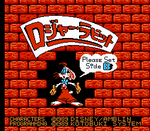 Roger Rabbit Famicom Title Screen