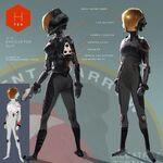 Abigail's Suit Concept Art