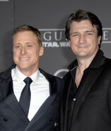 Alan Tudyk Nathan Fillion Star Wars Rogue One event