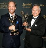Frank Welker & Jeff Bennett at Creative Arts Emmys
