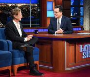 William H. Macy visits Stephen Colbert