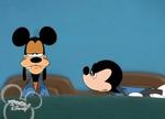 Goofy stealing Mickey's ears
