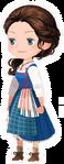 Live Action Belle Costume Kingdom Hearts χ