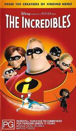 The Incredibles 2005 AUS VHS