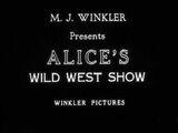 Alice's Wild West Show