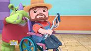 Farmer mack in a wheelchair
