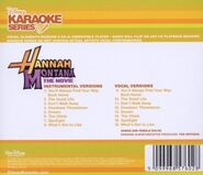 Karaoke series hannah montana movie back