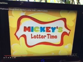 Mickey's Letter Time