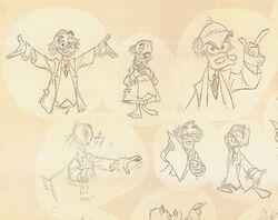 Milt kahl von drake sketches