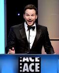 Chris Pratt speaks at ACE Eddie Awards