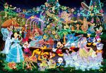 Disney characters glow puzzle