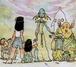 Lilo & Stitch concept art meeting aliens