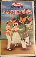 Mary Poppins 1988 UK VHS