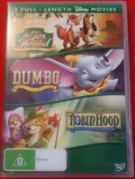 The Fox and the Hound + Dumbo + Robin Hood 2007 AUS DVD