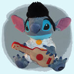 Elvis Stitch plush