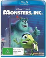 Monsters Inc 2013 AUS Blu Ray