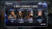 Star Wars Force Arena Sequel Cards